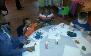 Ife and kids painting cropped