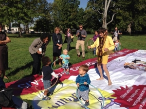 Rosa DeLauro at the Chutes and Ladders Event (Photo tweeted by Helen Blank)