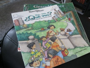Rhyming books like this one help children learn about the different sounds that make up words.