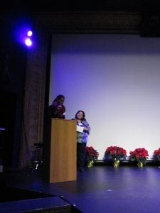Natasha shares her story at the Bijou Theatre in Bridgeport